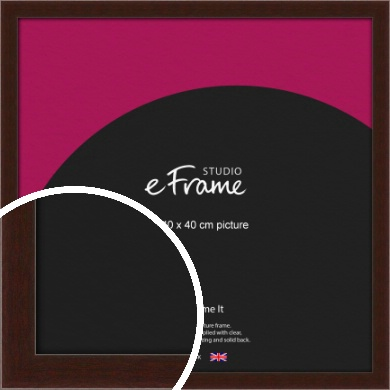 American Walnut Effect Brown Picture Frame, 40x40cm (VRMP-222-40x40cm)