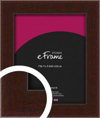 American Walnut Effect Brown Picture Frame, 4x5