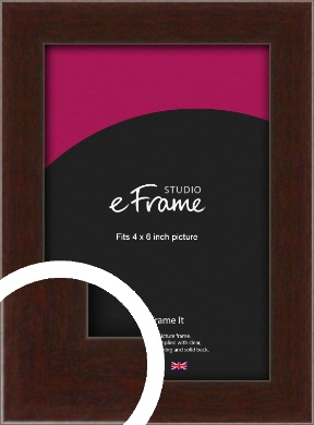 American Walnut Effect Brown Picture Frame, 4x6