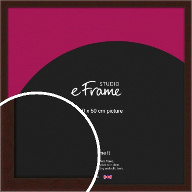 American Walnut Effect Brown Picture Frame, 50x50cm (VRMP-222-50x50cm)