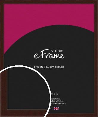 American Walnut Effect Brown Picture Frame, 50x60cm (VRMP-222-50x60cm)