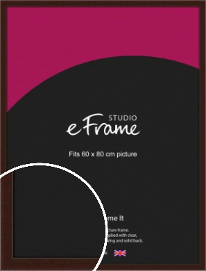American Walnut Effect Brown Picture Frame, 60x80cm (VRMP-222-60x80cm)