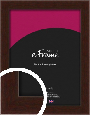 American Walnut Effect Brown Picture Frame, 6x8