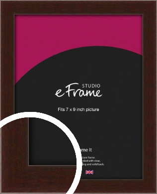 American Walnut Effect Brown Picture Frame, 7x9