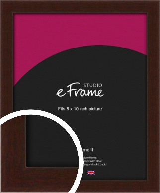 American Walnut Effect Brown Picture Frame, 8x10