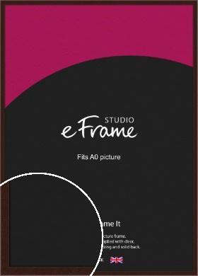 American Walnut Effect Brown Picture Frame, A0 (841x1189mm) (VRMP-222-A0)