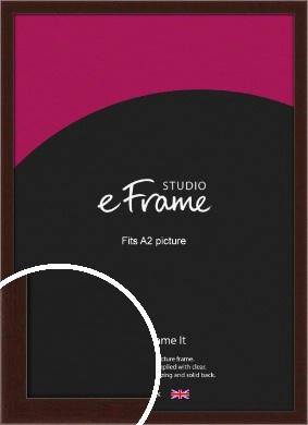 American Walnut Effect Brown Picture Frame, A2 (420x594mm) (VRMP-222-A2)