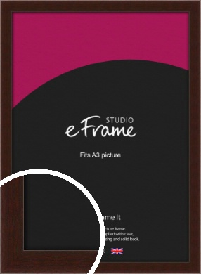 American Walnut Effect Brown Picture Frame, A3 (297x420mm) (VRMP-222-A3)