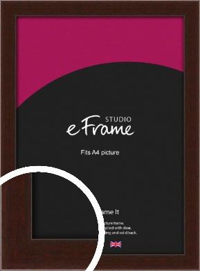 American Walnut Effect Brown Picture Frame, A4 (210x297mm) (VRMP-222-A4)