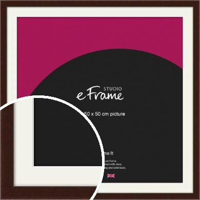 American Walnut Effect Brown Picture Frame & Mount, 50x50cm (VRMP-222-M-50x50cm)