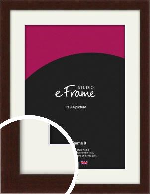 American Walnut Effect Brown Picture Frame & Mount, A4 (210x297mm) (VRMP-222-M-A4)