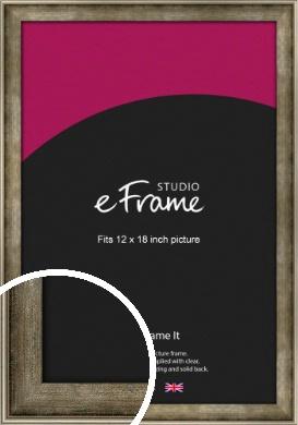 Worn Lunar Silver Picture Frame, 12x18