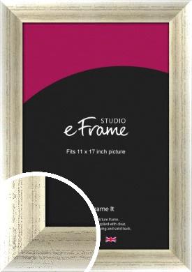 Timeworn Silver Picture Frame, 11x17