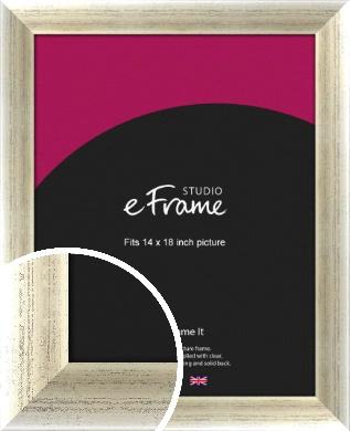 Timeworn Silver Picture Frame, 14x18