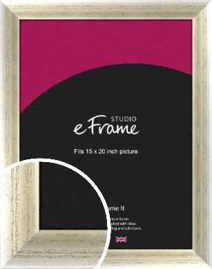 Timeworn Silver Picture Frame, 15x20