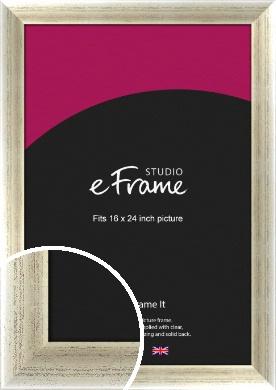 Timeworn Silver Picture Frame, 16x24