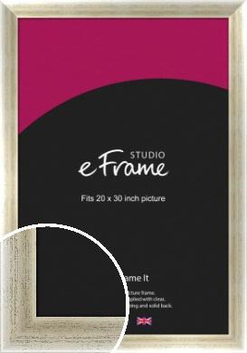 Timeworn Silver Picture Frame, 20x30