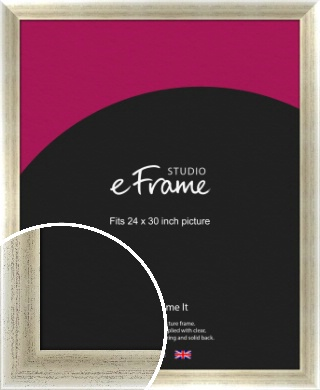 Timeworn Silver Picture Frame, 24x30