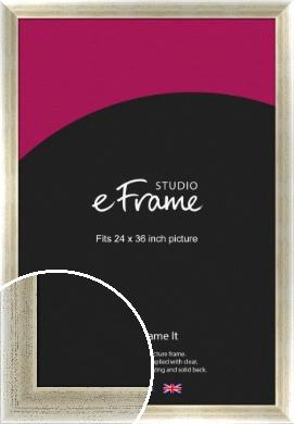 Timeworn Silver Picture Frame, 24x36