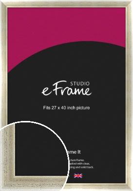 Timeworn Silver Picture Frame, 27x40