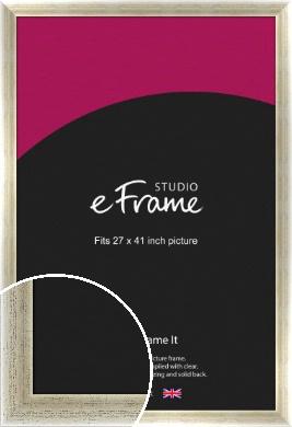 Timeworn Silver Picture Frame, 27x41