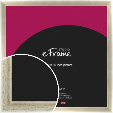 Timeworn Silver Picture Frame, 30x30