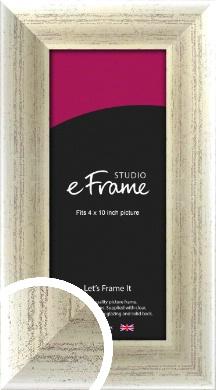 Timeworn Silver Picture Frame, 4x10