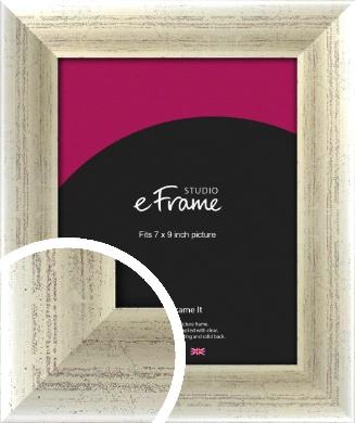 Timeworn Silver Picture Frame, 7x9