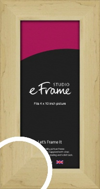 Rustic Light Natural Wood Picture Frame, 4x10