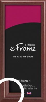 Quaint Cherry Brown Picture Frame, 4x10
