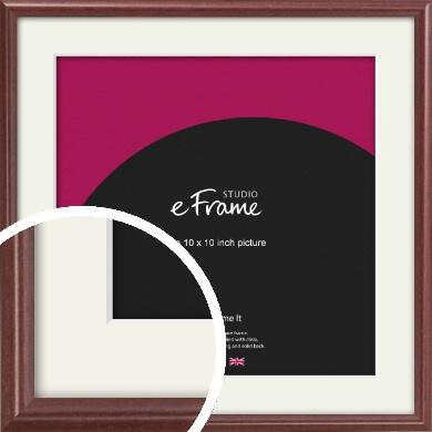 Quaint Cherry Brown Picture Frame & Mount, 10x10