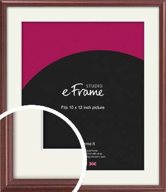 Quaint Cherry Brown Picture Frame & Mount, 10x12