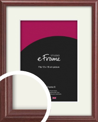 Quaint Cherry Brown Picture Frame & Mount, 13x18cm (5x7