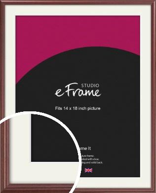 Quaint Cherry Brown Picture Frame & Mount, 14x18