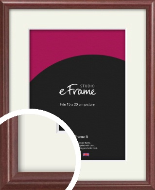 Quaint Cherry Brown Picture Frame & Mount, 15x20cm (6x8