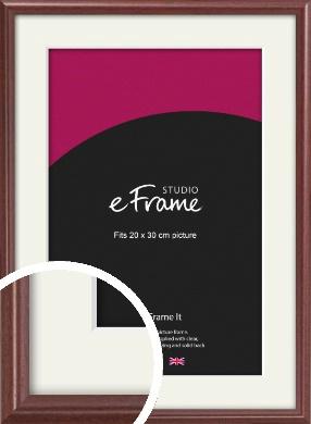 Quaint Cherry Brown Picture Frame & Mount, 20x30cm (8x12