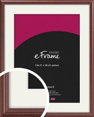 Quaint Cherry Brown Picture Frame & Mount, 21x28cm (VRMP-592-M-21x28cm)