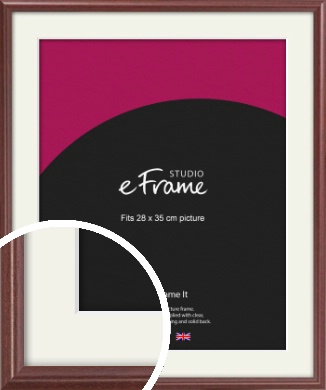 Quaint Cherry Brown Picture Frame & Mount, 28x35cm (VRMP-592-M-28x35cm)
