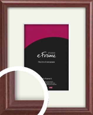 Quaint Cherry Brown Picture Frame & Mount, 3.5x5