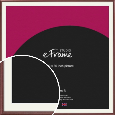 Quaint Cherry Brown Picture Frame & Mount, 30x30