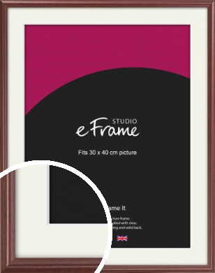 Quaint Cherry Brown Picture Frame & Mount, 30x40cm (VRMP-592-M-30x40cm)