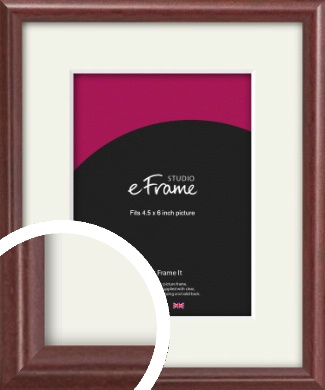 Quaint Cherry Brown Picture Frame & Mount, 4.5x6