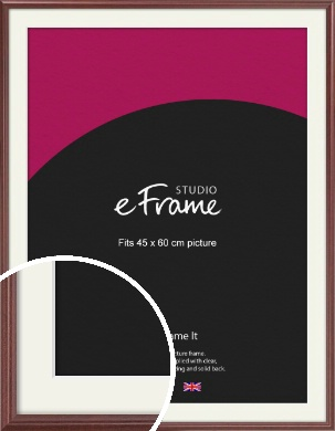 Quaint Cherry Brown Picture Frame & Mount, 45x60cm (VRMP-592-M-45x60cm)