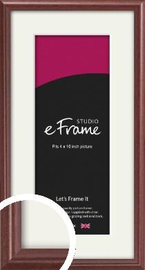 Quaint Cherry Brown Picture Frame & Mount, 4x10