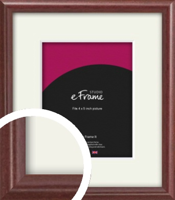Quaint Cherry Brown Picture Frame & Mount, 4x5