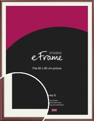 Quaint Cherry Brown Picture Frame & Mount, 60x80cm (VRMP-592-M-60x80cm)