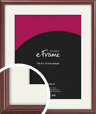 Quaint Cherry Brown Picture Frame & Mount, 8x10