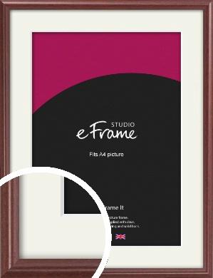 Quaint Cherry Brown Picture Frame & Mount, A4 (210x297mm) (VRMP-592-M-A4)