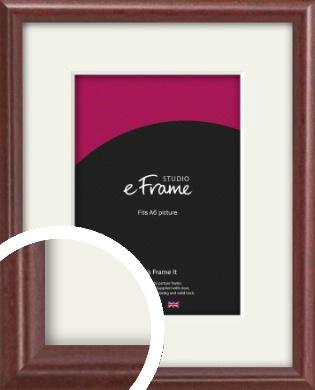 Quaint Cherry Brown Picture Frame & Mount, A6 (105x148mm) (VRMP-592-M-A6)