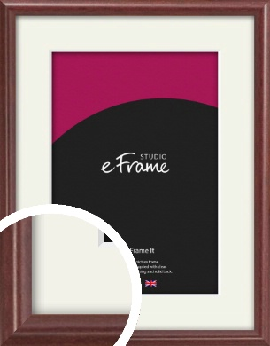 Quaint Cherry Brown Picture Frame & Mount (VRMP-592-M)